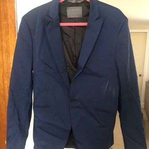 Men's single button suit jacket